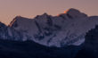 Le Mont Blanc et l'Aiguille du Midi